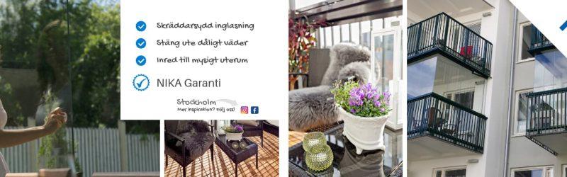 Balkonginglasning i Stockholm - Nika Inglasning AB