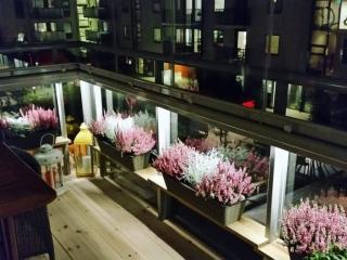NIKA inglasad balkong med profillöst system – split-system på glasräcke