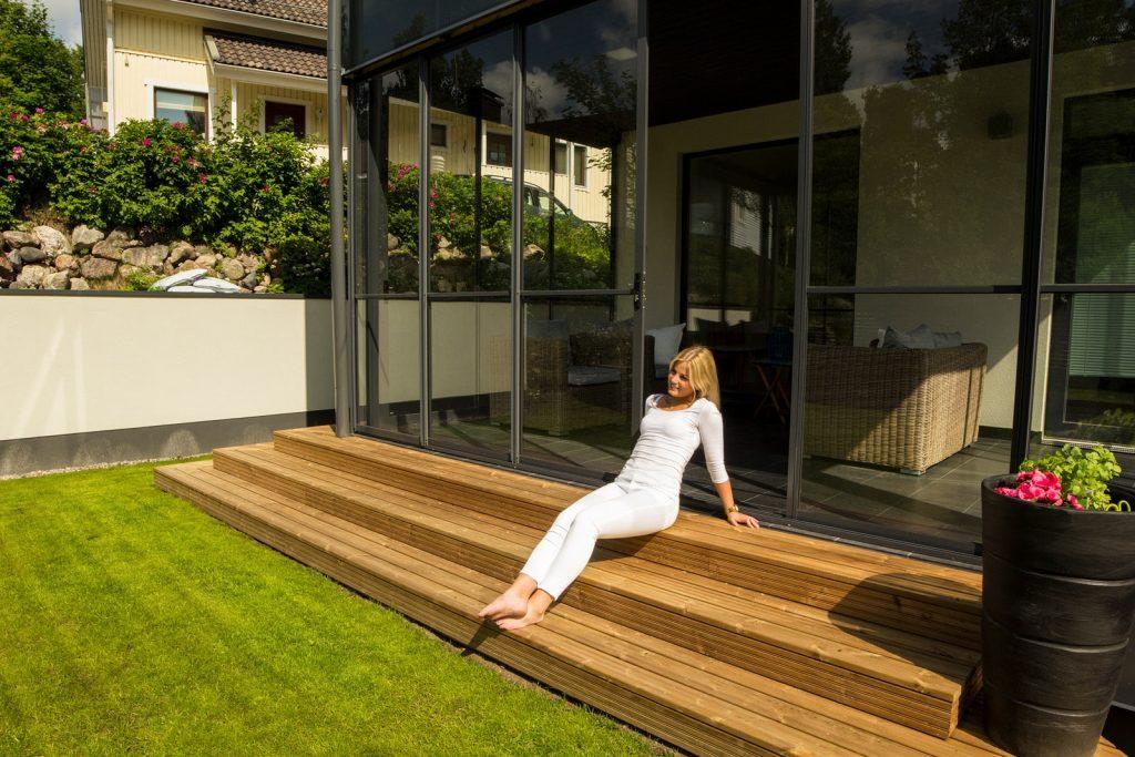 Skjutglas för veranda, terrass och uteplats