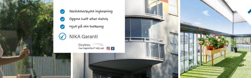 Balkonginglasning Örebro - Inglasning av balkonger - NIKA