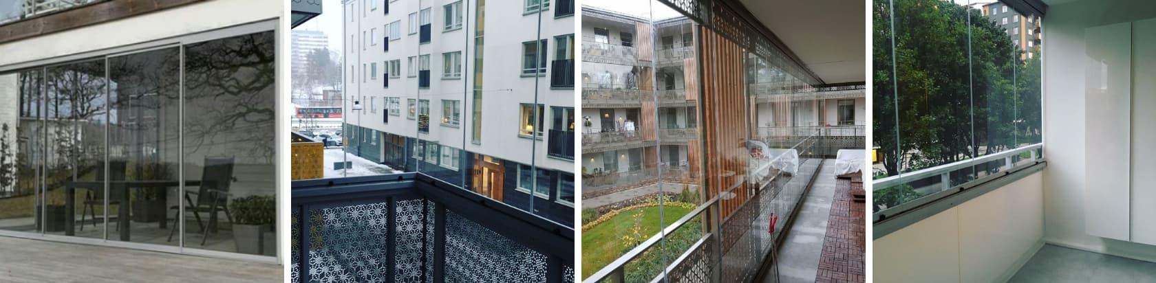 Glasa in balkonger i Brf - Bostadsrättsförening