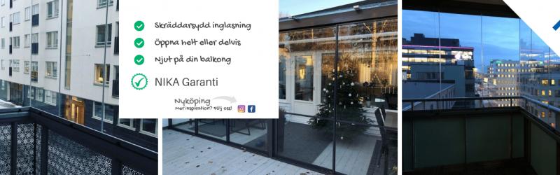 Balkonginglasning Nyköping